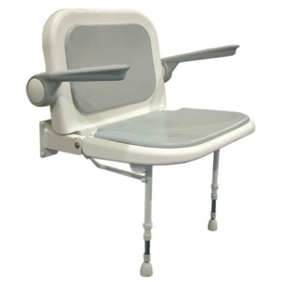 DOCCIA PIEGHEVOLE SEDILE AD527LUX - Sedile con schienale regolabile e braccioli.