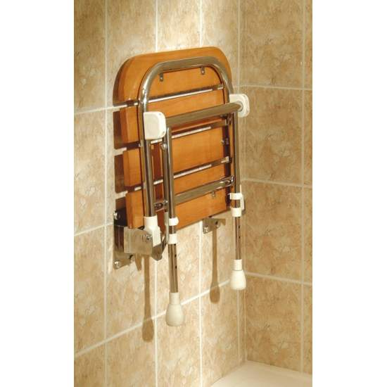 FOLDING SHOWER SEAT WOOD AD529 - Folding Shower Seat Wood