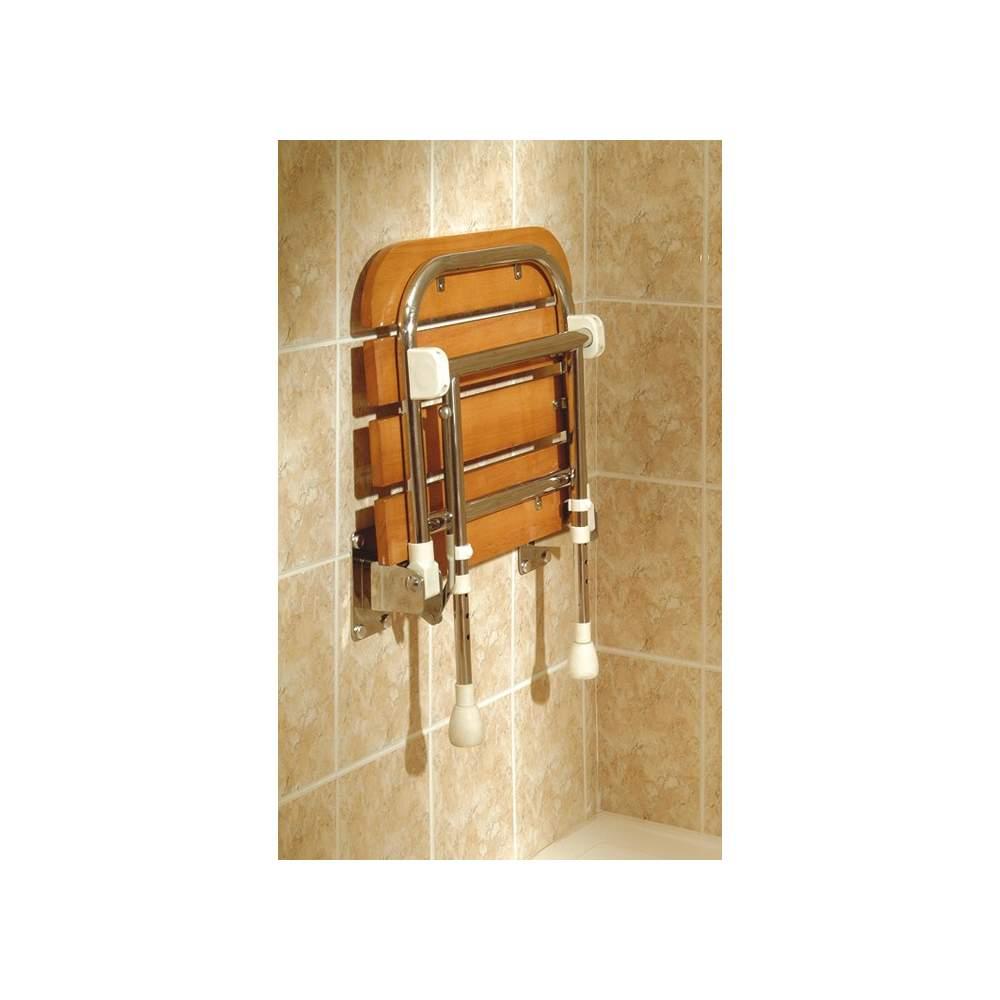 MADEIRA assento rebatível CHUVEIRO AD529 - Balanço chuveiro assento de madeira
