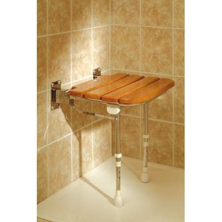 DOUCHE FOLDING SEAT WOOD AD529