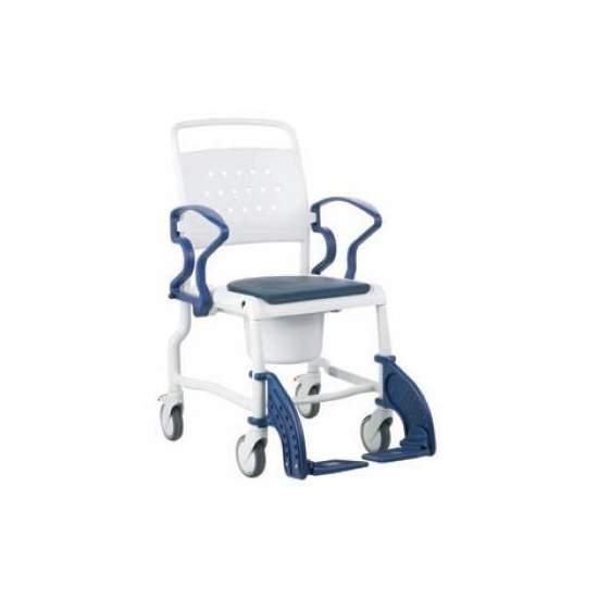 Silla de Baño con Inodoro Rebotec - Esta silla puede colocarse directamente sobre la taza del WC o utilizar la cubeta inodoro incluida (con tapa y asidera para su transporte).