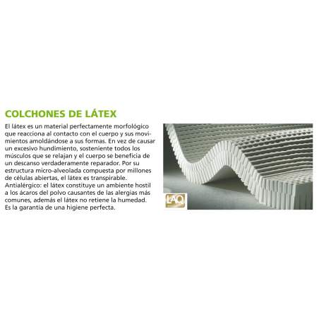 Materasso in lattice antiescaras AD930 SALUTE COPERCHIO