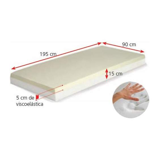 Memory foam mattress MEMORY WITH COVER antiescaras AD953