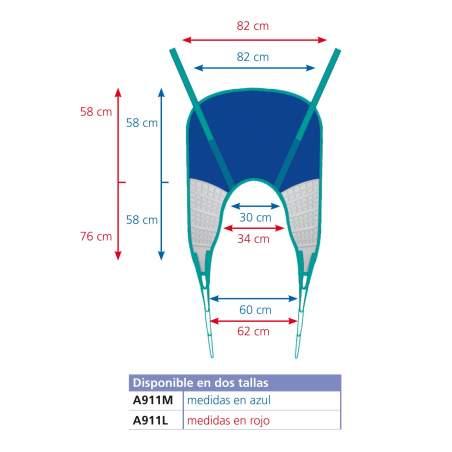Arnés Confort con cabezal para grúa A911