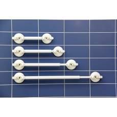 Suporte de parede, 2 alças telescópicas. L 665-790 mm