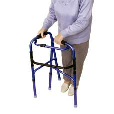 High quality foldable walker. Silver