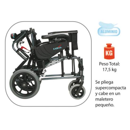 Aluminum chair tilting AD819 - Wheelchair made of aluminum, foldable and swivel, big news!!
