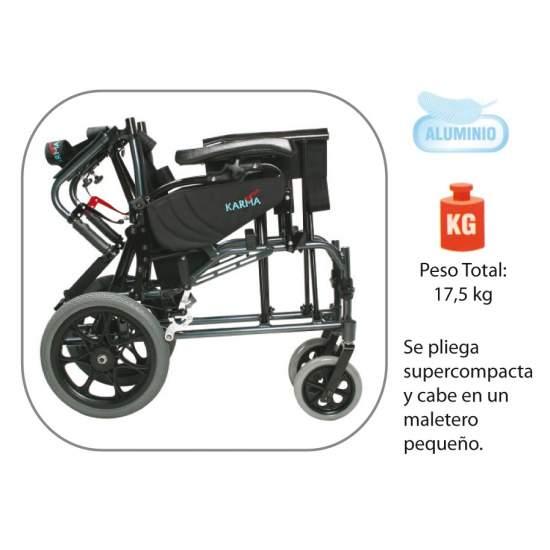 Fauteuil inclinable en aluminium AD819 - Fauteuil roulant en aluminium, pliable et pivotante, de grandes nouvelles!