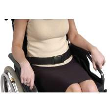 Safety belt for wheelchairs