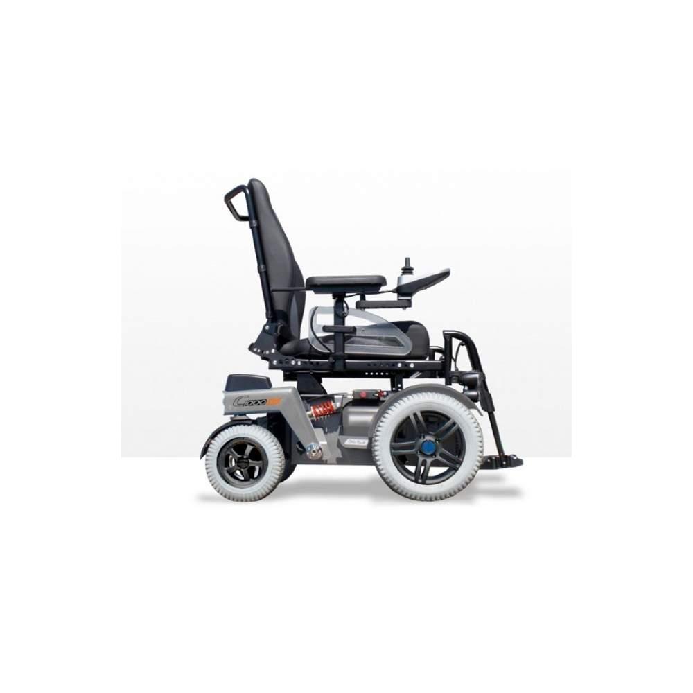 Fauteuil roulant électrique C1000 DS Otto Bock -  Avec son moteur avant et la nouvelle adresse, le C1000 DS est adapté pour les espaces extérieurs et intérieurs. En outre, le fauteuil offre une faible hauteur de selle, une...