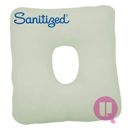Sanitized Suapel cushion HOLE 44x44x11 WHITE SQUARE - WHITE SQUARE HOLE