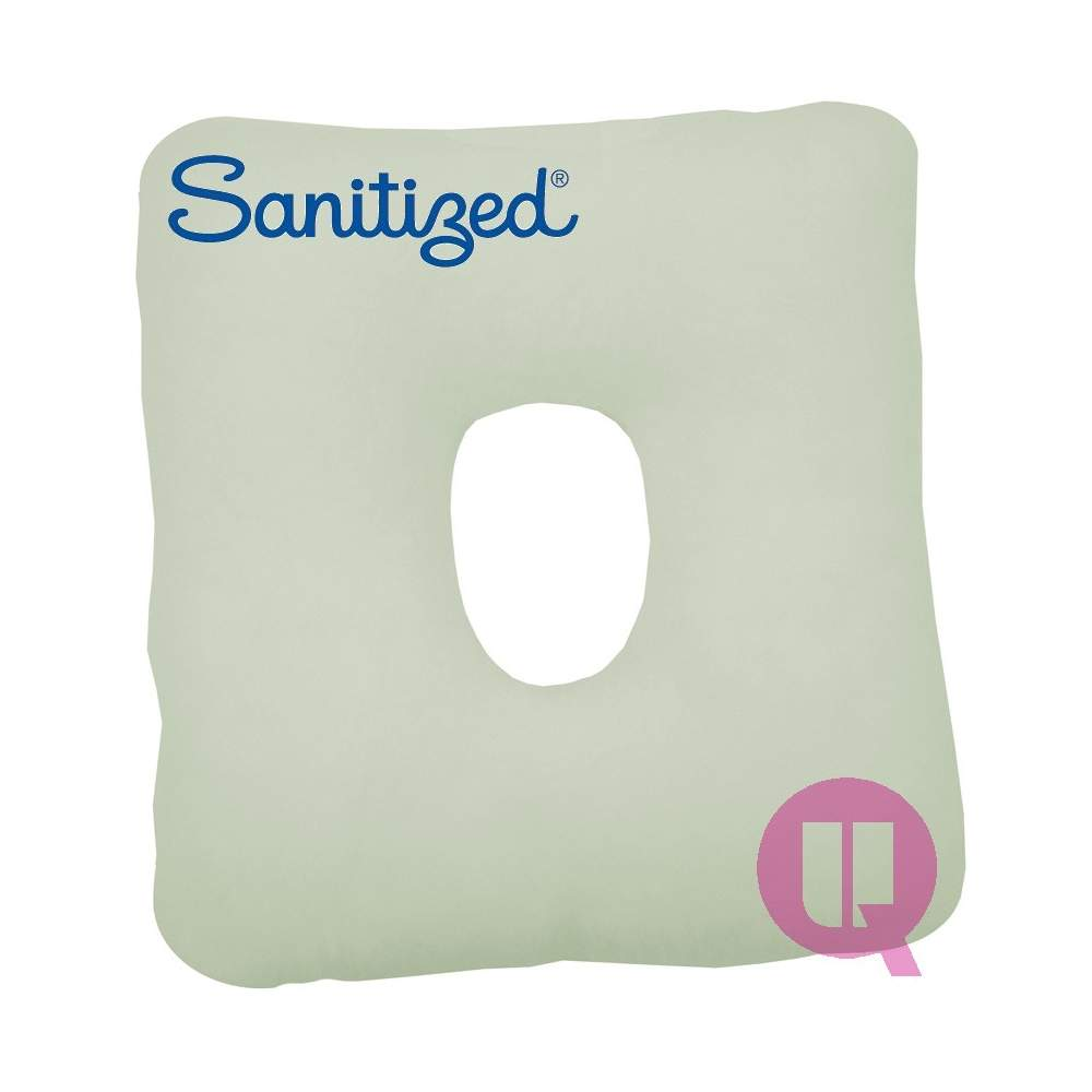 Sanitized Suapel cushion HOLE 44x44x11 WHITE SQUARE