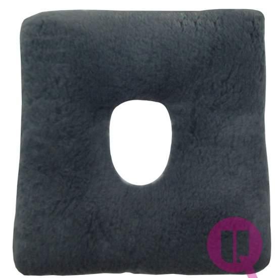 Almofada Suapel higienizado FURO 44x44x11 quadrado cinza - Furo quadrado GREY