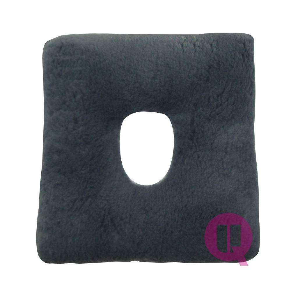 Sanitized Suapel cushion HOLE 44x44x11 SQUARE GRAY - SQUARE HOLE GREY