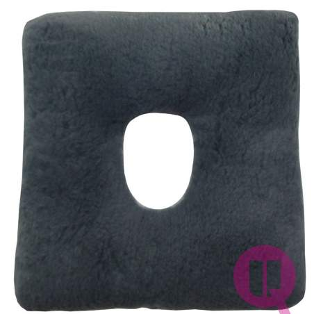 Sanitized Suapel cushion HOLE 44x44x11 SQUARE GRAY