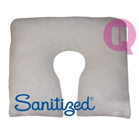 Sanitized Suapel cushion 44x44x11 WHITE SQUARE HORSESHOE