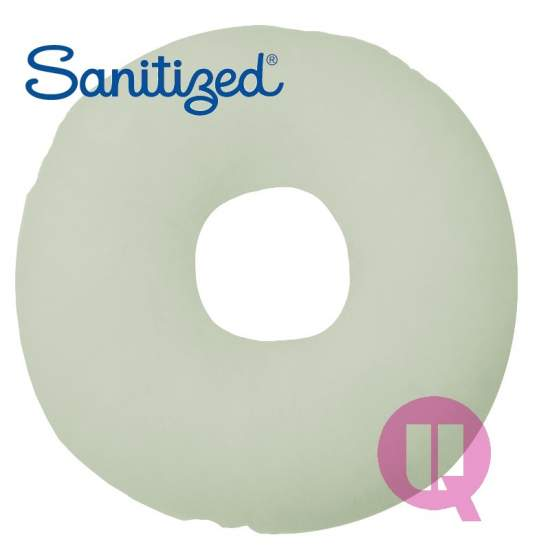 Almofada Suapel higienizado 44x44x11 furo redondo BRANCO