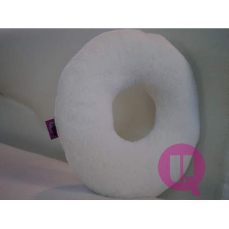 Sanitized coussin Suapel 44x44x11 ROUND HOLE BLANC