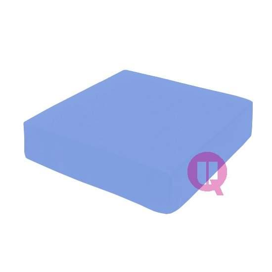 Cojin de viscoelástica 42x42x08 MAXICONFORT azul cielo