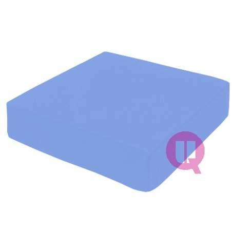 Coussin viscoélastique 42x42x08 MAXICONFORT ciel bleu