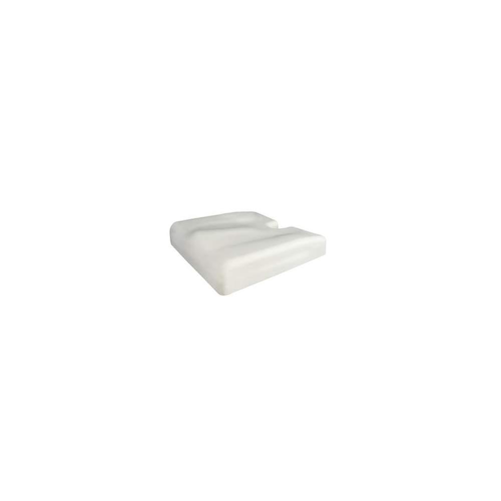 Coussin ergonomique 42x42x08 ERGOTECH blanc