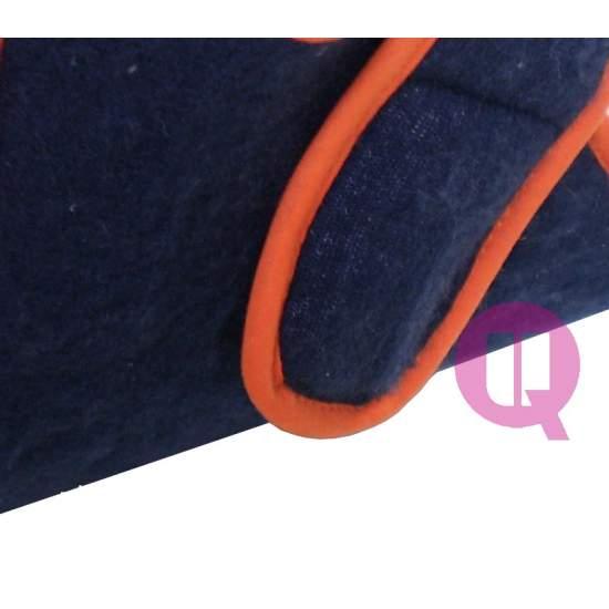 COMBINE Patuco Bleu-Orange - COMBINÉ