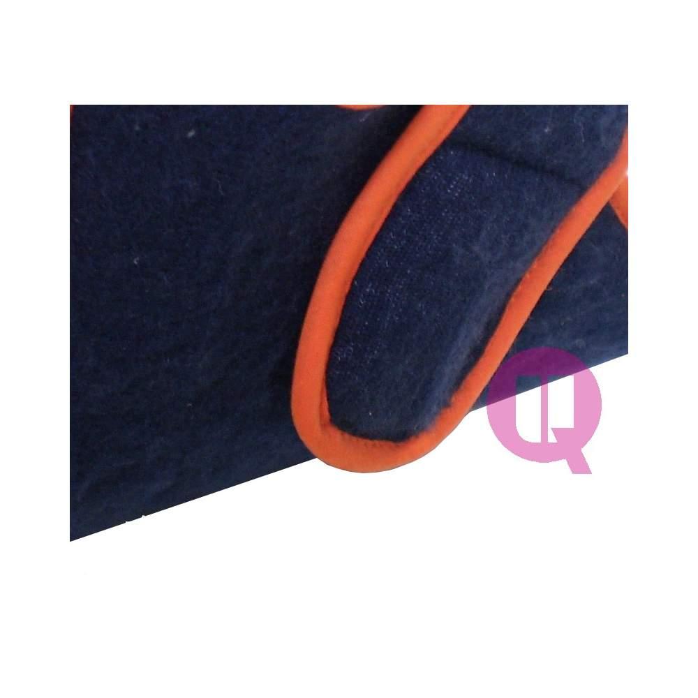 Patuco COMBINADO Azul-Naranja