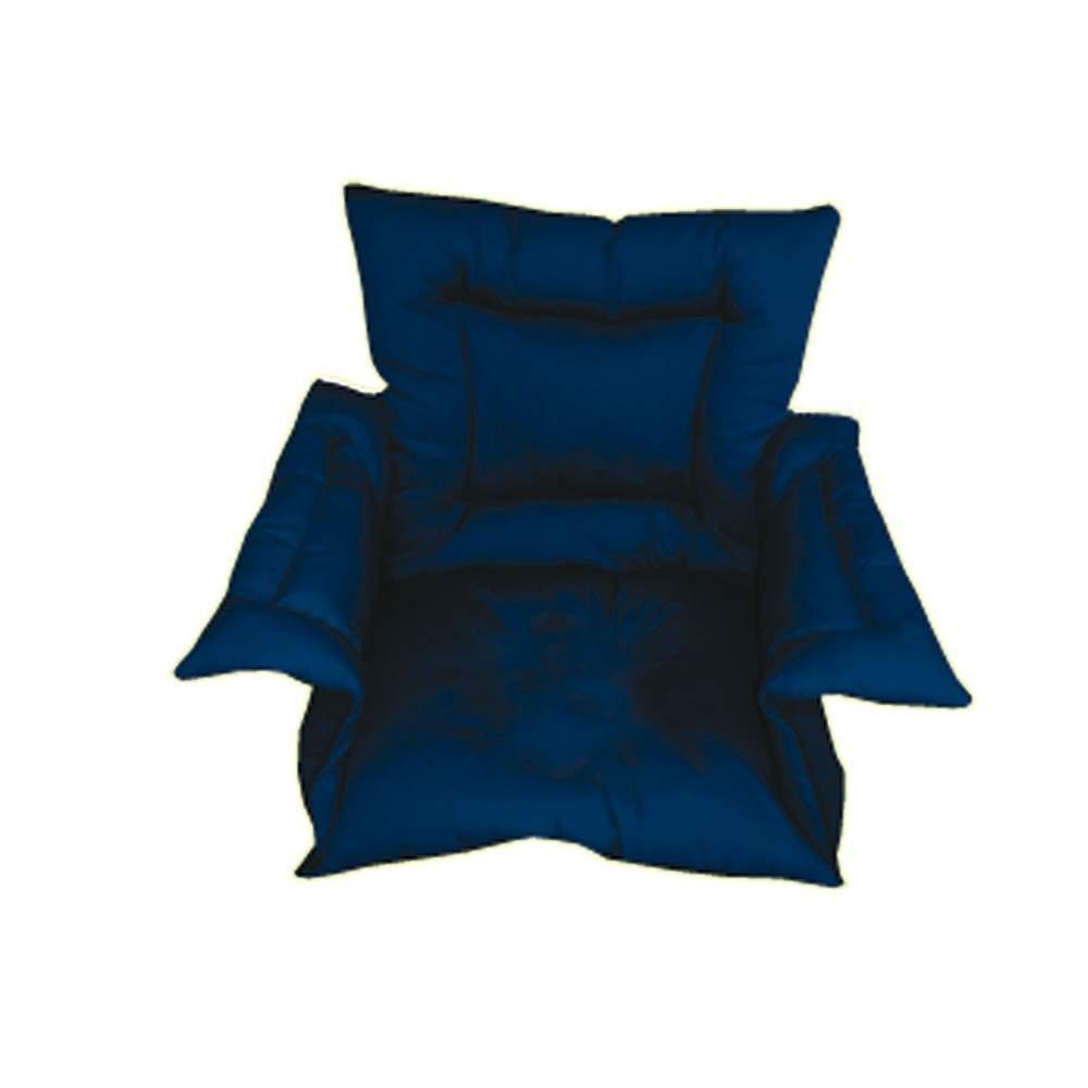 Cubresilla rembourré Saniluxe L bleu
