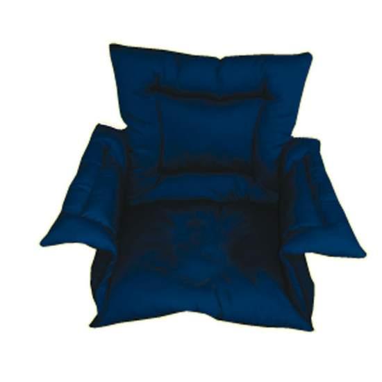 Cubresilla acolchado SANILUXE M azul