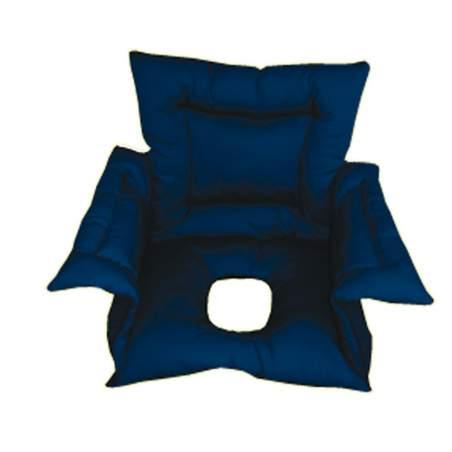 Cubresilla acolchado SANILUXE AGUJERO L azul
