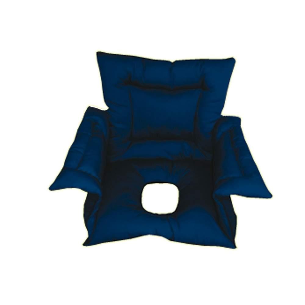 Cubresilla acolchado SANILUXE AGUJERO M azul