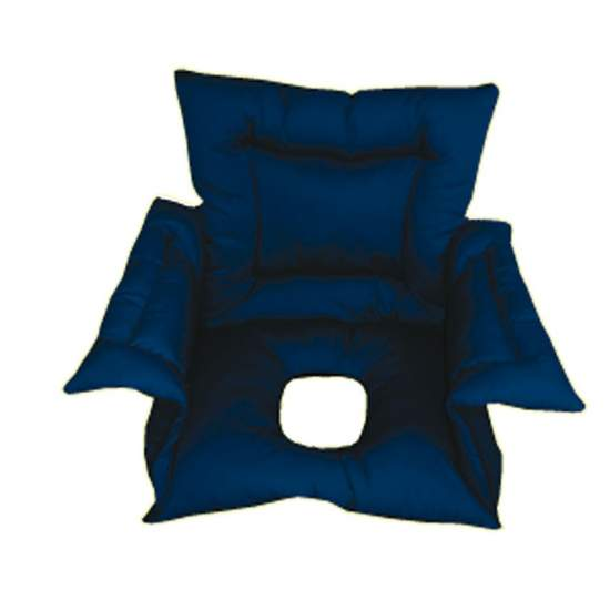 Cubresilla acolchado SANILUXE AGUJERO S azul