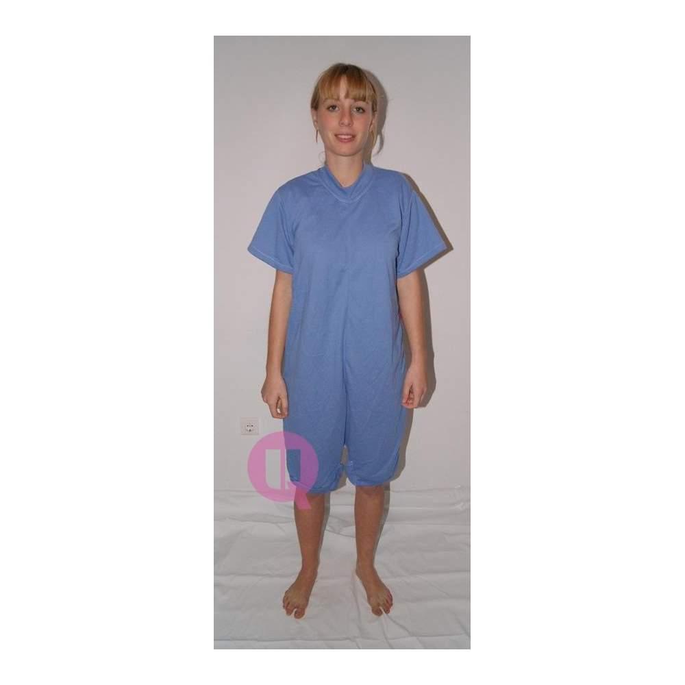 Pijama antipañal CORTO / MANGA CORTA CELESTE Tallas S - M - L - XL – XXL