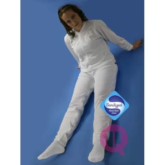 Pijamas antipañal Longo / comprida feminina Branca Tamanhos S - M - L - XL - XXL - Pijamas antipañal Longo / comprida feminina Branca Tamanhos S - M - L - XL - XXL