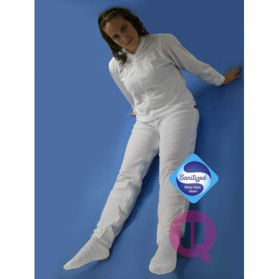 Pyjamas antipañal LONG / MANCHES LONGUES BLANC Tailles S - M - L - XL - XXL - Pyjamas antipañal LONG / MANCHES LONGUES BLANC Tailles S - M - L - XL - XXL