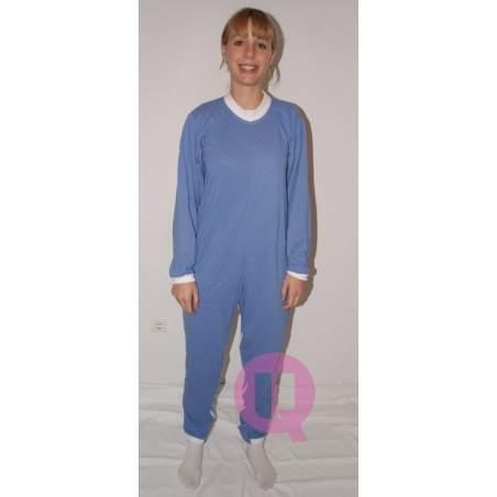 Pyjamas antipañal LONG / MANCHES LONGUES CELESTE Tailles S - M - L - XL - XXL