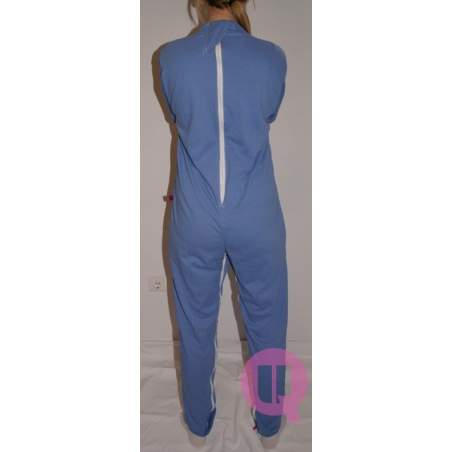 Pijama antipañal LARGO / MANGA LARGA CELESTE Tallas S - M - L - XL – XXL