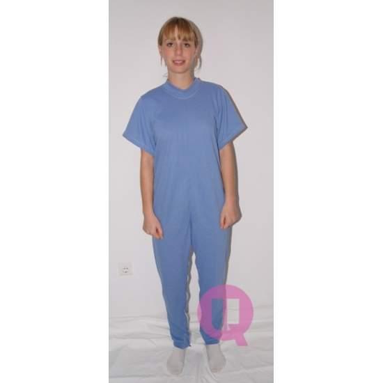 Pijama antipañal LARGO / MANGA CORTA CELESTE Tallas S - M - L - XL – XXL - Pijama antipañal LARGO / MANGA CORTA CELESTE Tallas S - M - L - XL – XXL