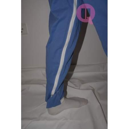 Pijama antipañal LARGO / MANGA CORTA CELESTE Tallas S - M - L - XL – XXL