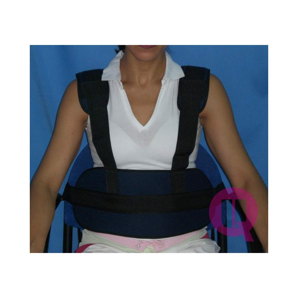 Abdominal belt with suspenders CHAIR PADDING / BUCKLES - SEAT CUSHION / 160 BUCKLES