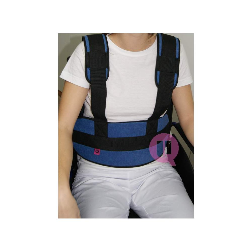 Abdominal belt with suspenders CHAIR PADDING / IRIONCLIP - SEAT CUSHION / IRONCLIP 160