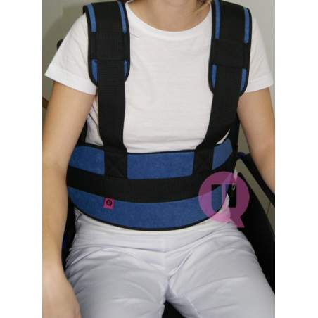 Abdominal belt with suspenders CHAIR PADDING / IRIONCLIP