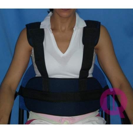 Abdominal belt with suspenders padded chair / BUCKLES
