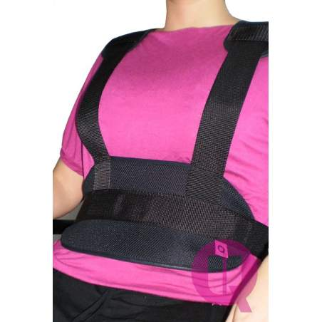 Abdominal belt with suspenders TRANSPIRABLE ARMCHAIR / BUCKLES