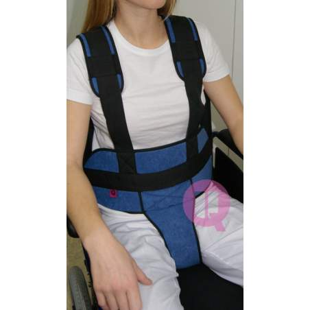 Perineal belt with suspenders CHAIR PADDING / IRIONCLIP
