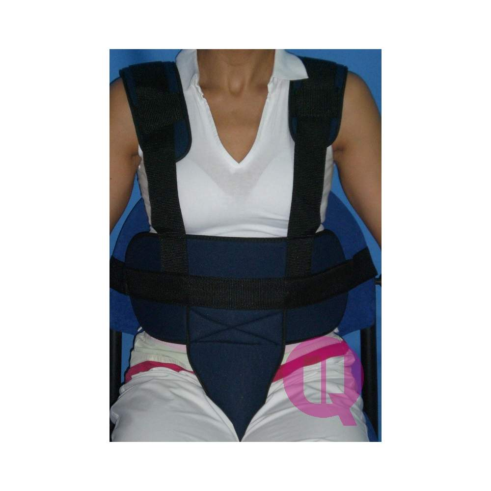 Perineal belt with suspenders padded chair / BUCKLES