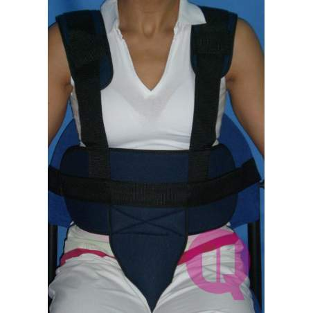Cinturón perineal con tirantes SILLÓN ACOLCHADO / HEBILLAS