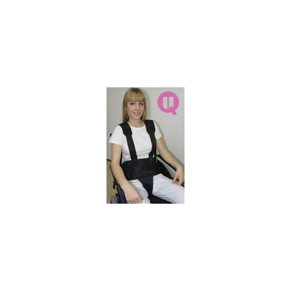 Perineal belt with suspenders TRANSPIRABLE ARMCHAIR / BUCKLES
