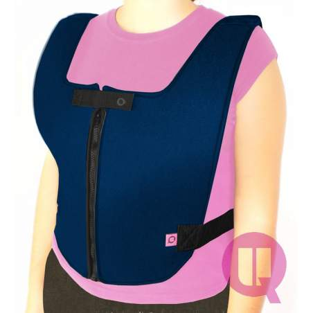 Zippered vest abdominal padded chair