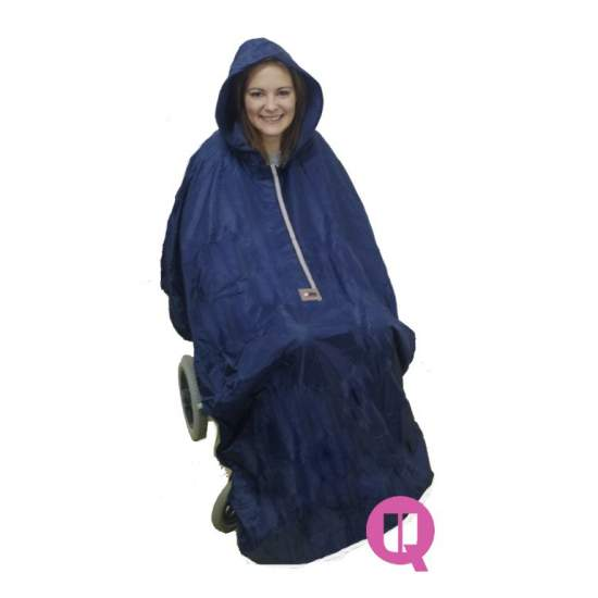 Waterproof raincoat wheelchair